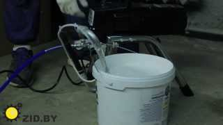 видео Аппарат окрасочный высокого давления безвоздушный поршневой DP-6325 (2,4 л/мин)