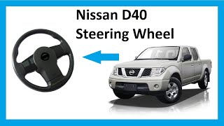 How to remove the steering wheel & airbag on a Nissan Navara D40/pathfinder