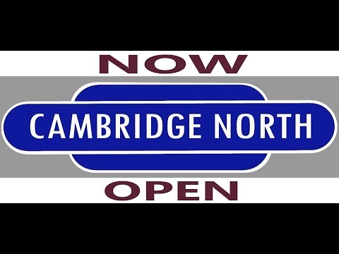 Cambridge North, First Train ! (Station