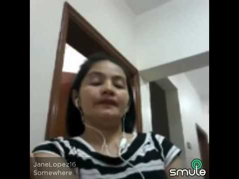 "From Philippines, OFW here in Kuwait singing a song ""Somewhere ""on karaoke smule."