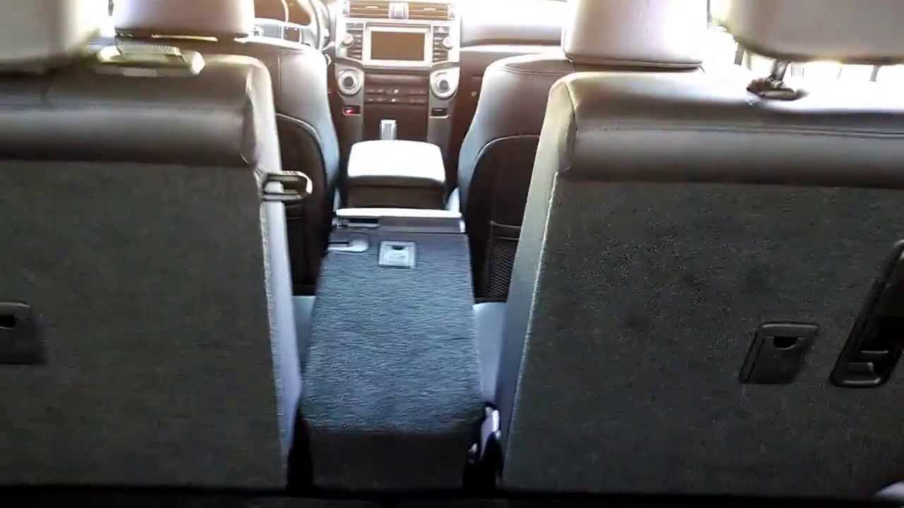 toyota 4runner captains chairs gliding rocking chair covers second row 40 20 split seat demo youtube
