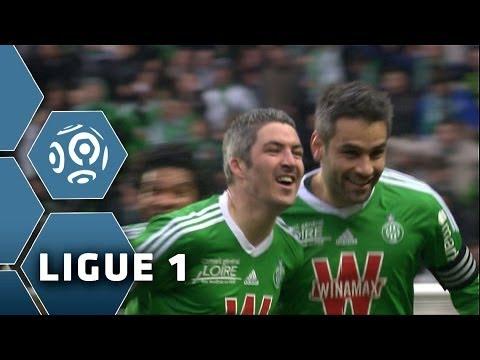F. LEMOINE marque un but CANON (17') - Saint-Etienne-Monaco (2-0) - 01/03/14 - (ASSE-ASM)