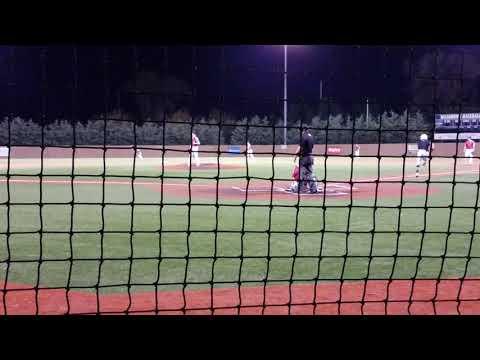 Dayvin Johnson age 15 first pitch double at Washburn 18U tourney
