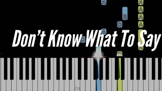 Don't Know What To Say - Ric Segreto | Piano Tutorial (Arranged By Heide Abot)