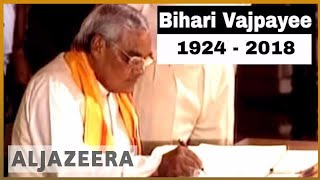 🇮🇳 Former Indian PM Atal Bihari Vajpayee dies | Al Jazeera English