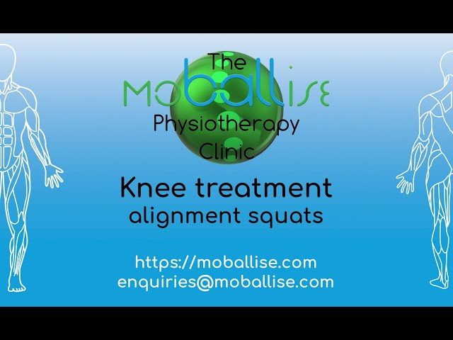 Knee treatment - alignment squats