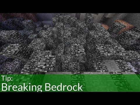 How to Break Bedrock in Minecraft