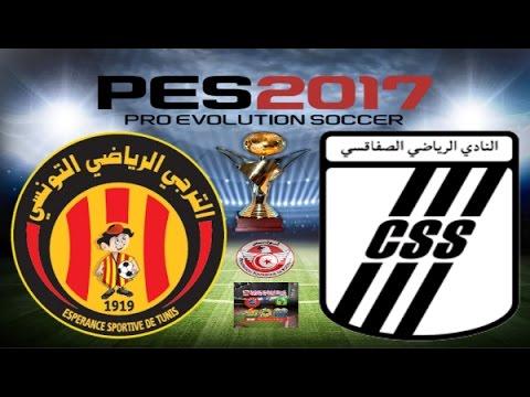 PS4 PES 2017 Gameplay Esperance De Tunis vs Club Sfaxien HD