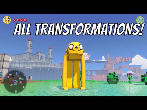 LEGO Dimensions - All Jake The Dog Transformations (Adventure Time)