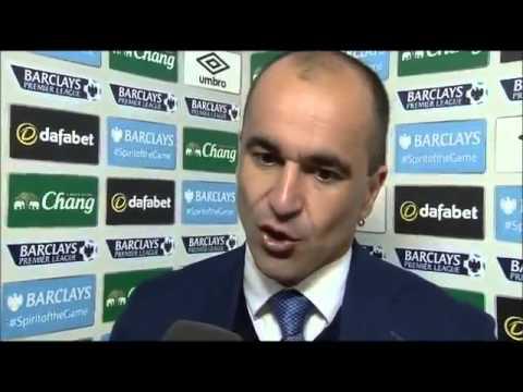 Everton 1-1 Southampton - Roberto Martinez Post Match Interview
