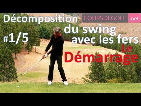 #1/5 Le Démarrage. Décomposition de swing avec les fers. Cours de golf par Renaud poupard