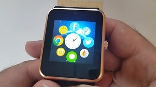 Similar Design to Apple Watch - Gold - Bluetooth Smart Watch / Phone Review