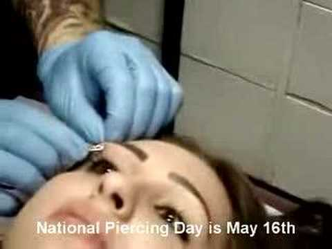 National Piercing Day is May 16th! (Eyebrow Piercing)