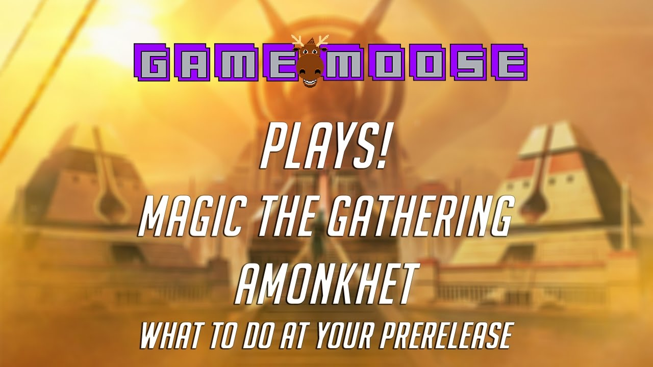 How To Build A Prerelease Deck + Games! Magic The Gathering Amonkhet Game  Moose Plays