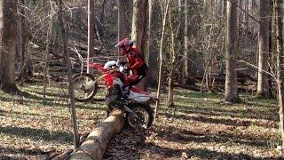 Honda CRF250L - Log hopping & jumping