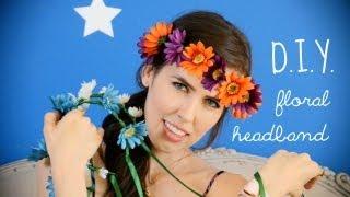 ♥ D.I.Y. ♥ Floral Headband! Thumbnail