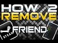 How to Remove a Friend on Steam