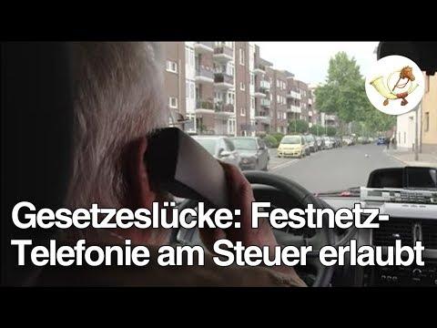 Gesetzeslücke: Telefonieren mit Festnetz beim Autofahren erlaubt [Postillon24]
