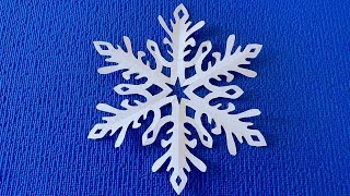 Ажурная снежинка из бумаги. Paper Snowflake.