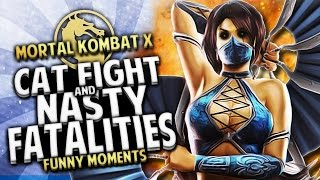 Mortal Kombat X Funny Moments - CHAOS vs LOST!! CAT FIGHT & NASTY FATALITIES!