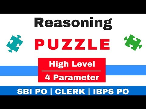 High Level Reasoning Puzzle 4 parameter for SBI PO | CLERK | IBPS PO