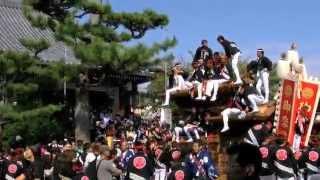 奈良時代の僧侶、行基をまつる久米田寺にだんじりが参内して感謝の念を...