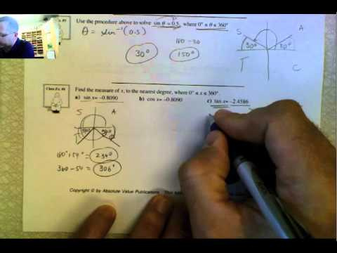 Applications of Reference Angles and CAST   Part 2