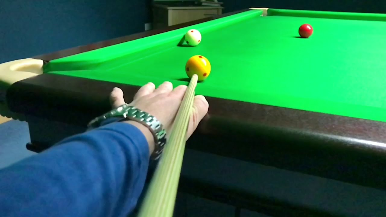 Double Kiss Recovery Cannon At Top Of The Table By Rob Hall In - Cannon pool table