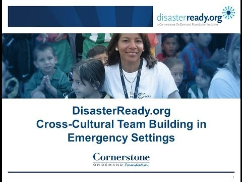 Cross-Cultural Team Building in Emergency Settings Webinar: February 2013