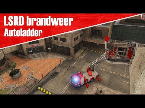 GTA 5 LSRD brandweer - Dienst met de autoladder !