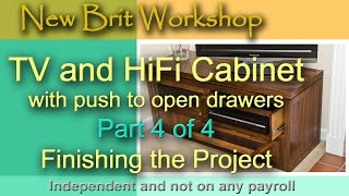 Tv Cabinet Part 4  - Making The Top And Other Bits