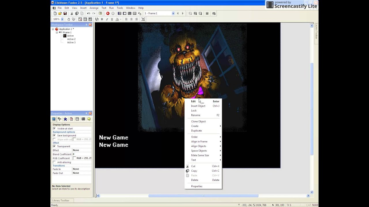 how to make a fnaf game in clickteam fusion 2 5