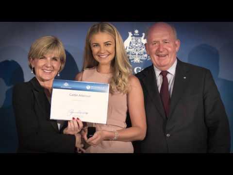 Caitlin Alderson - 2016 New Colombo Plan Scholarship Winner