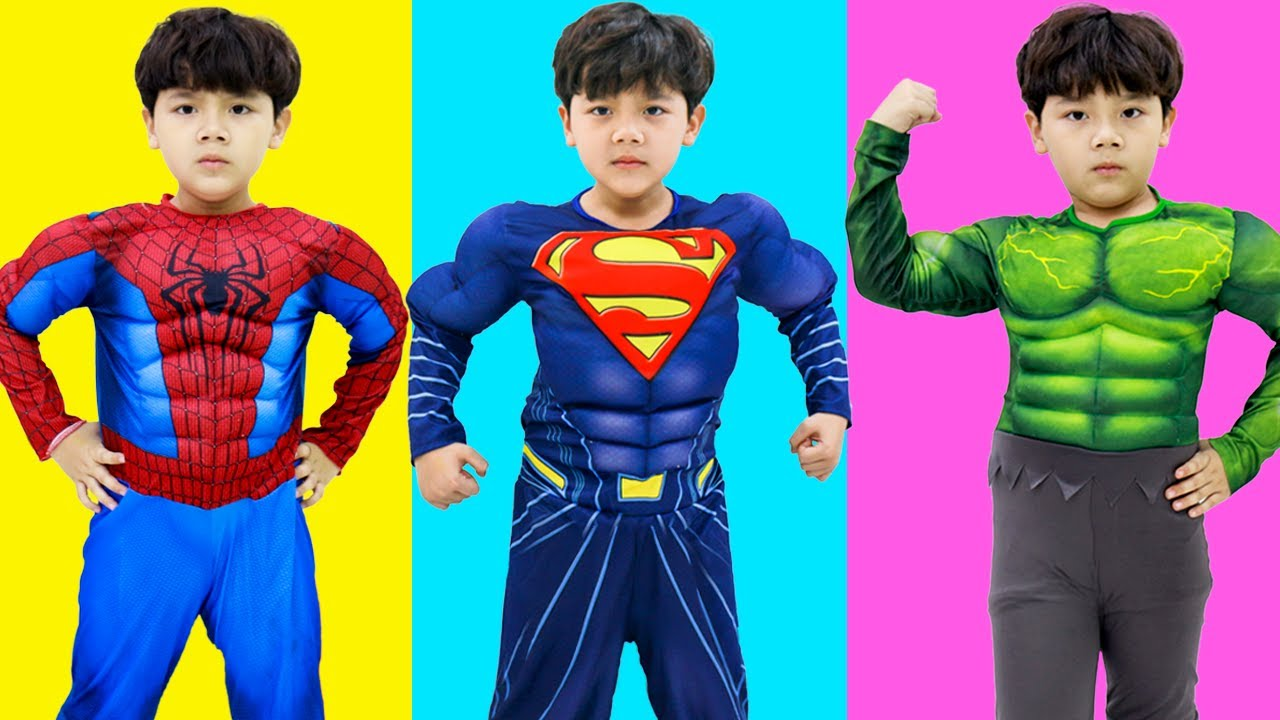 Sammy Pretend Play Turns into Superheroes | Funny Video for Children