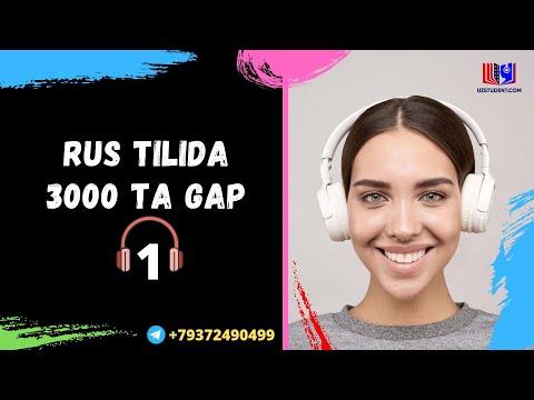 Rus Tilida Eng Ko`p Ishlatiladigan 3000ta Gap .Audiodarslik 1-qism .