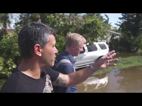 Droneoptagelser viser et oversvømmet og ødelagt Miami