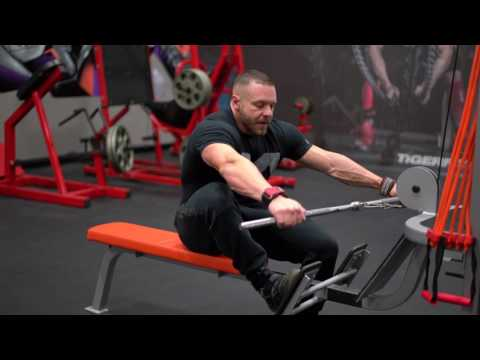 How to do a Wide Grip Seated Cable Low Row for a WIDE BACK | Tiger Fitness