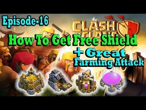 Clash Of Clans Episode-16 How To Get Free Shield