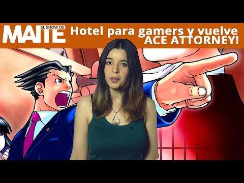 Hotel para gamers y vuelve ACE ATTORNEY! - El Show de Maite