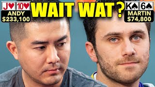 High Stakes Poker Players Lose Their Minds ♠ Live at the Bike!