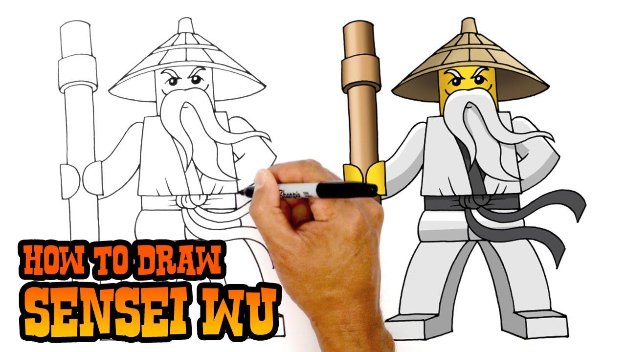 How To Draw Sensei Wu Ninjago Youtube