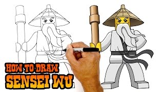 How to Draw Sensei Wu | Ninjago