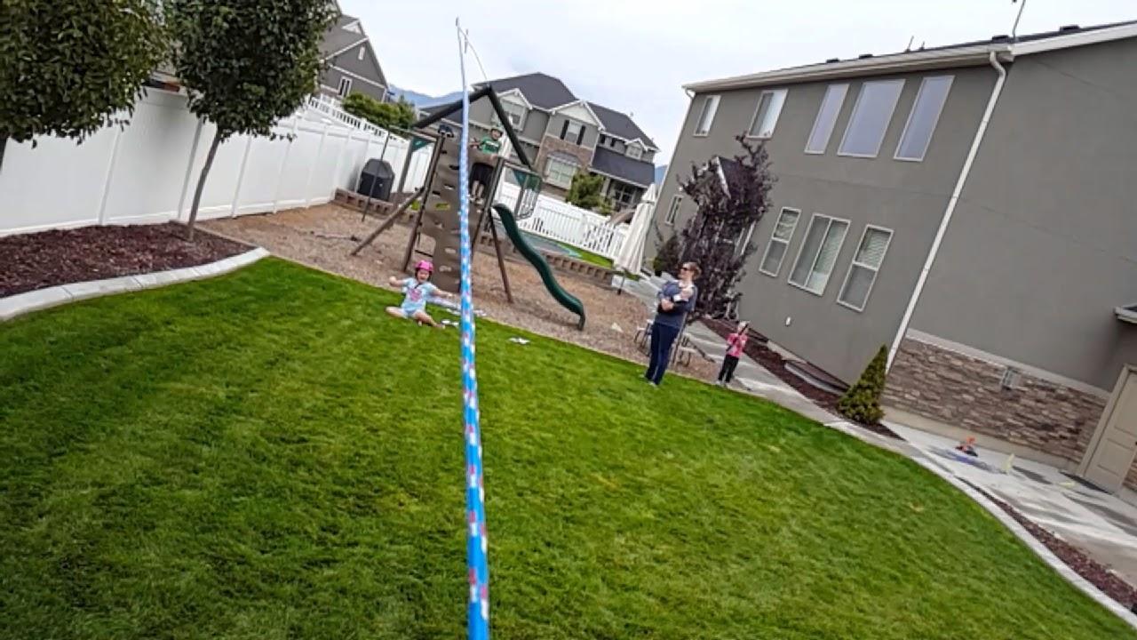 backyard zip line fails youtube
