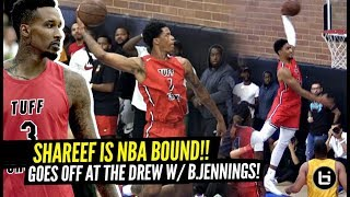 Shareef O'Neal PROVES He's NBA BOUND at The Drew League!? CLOWNIN' w/ Brandon Jennings!!