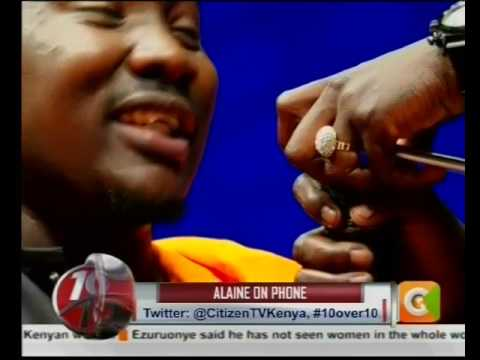 Willy Paul calls Alaine live on TV to allay marriage rumours #10Over10