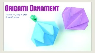 Christmas Crafts - Origami Diamond / Party Diamond Gemstone Ornament