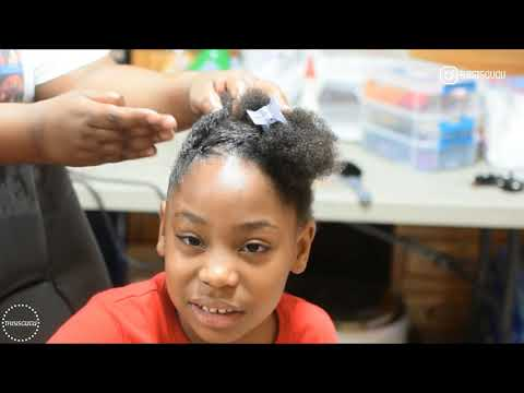 QUICK AND EASY KIDS/GIRLS NATURAL HAIRSTYLE ON SHORT HAIR (BEGINNER FRIENDLY BRAIDS) Easter style
