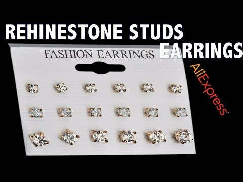 MissCyCy 9 Pairs/Set Mix Design Square Rhinestone Stud Earrings For Women AAA Cubic Zirconia Earring