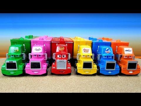 Сюрпризы MINI CARS3 Машинки и Транспортировщики Мак  Mack  Развивающее видео для детей Про машинки