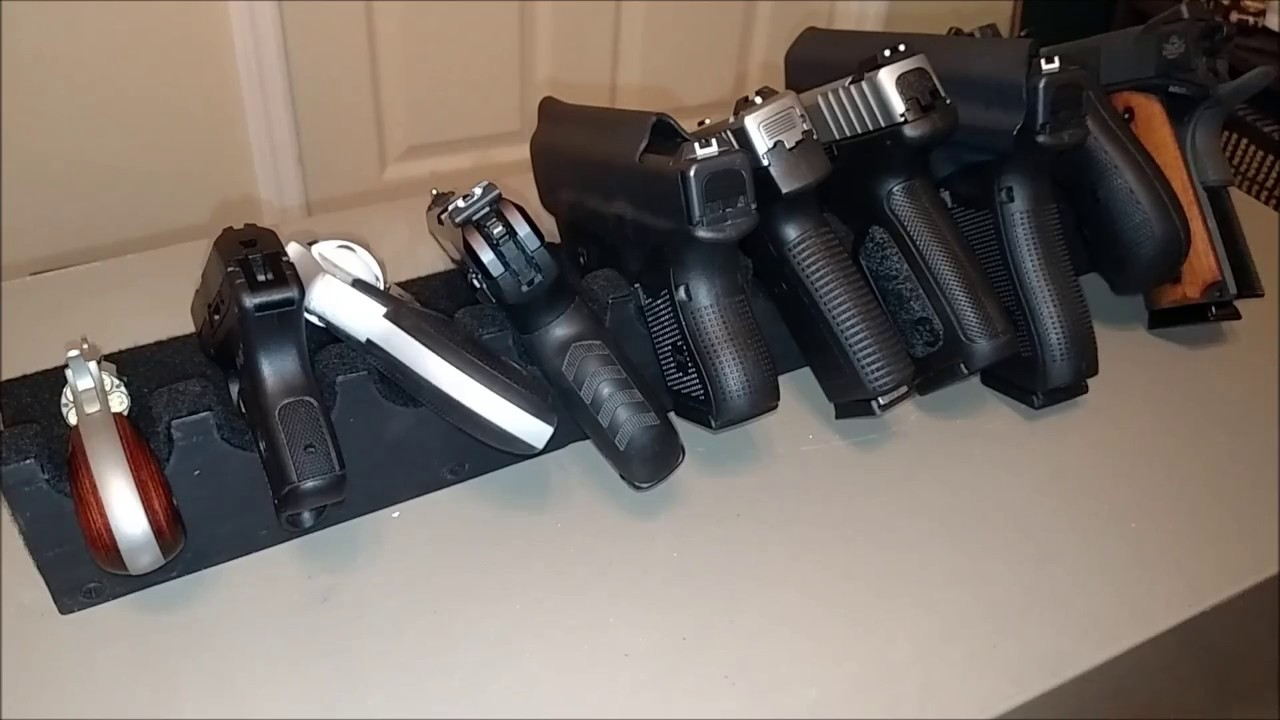 Diy Make Your Own Pistol Rack Youtube